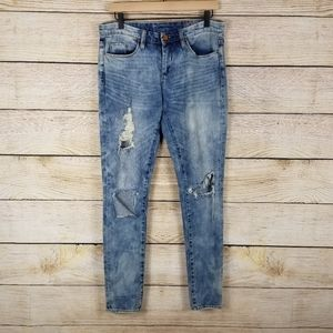 Blank NYC distressed skinny jeans destroyed stretc